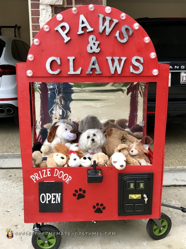 Cool Pet Dog Crane Machine Costume