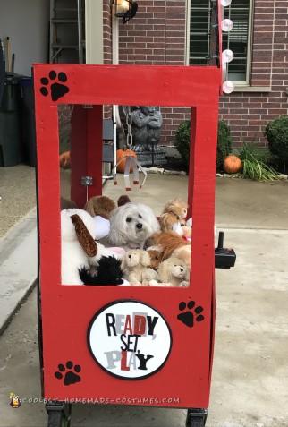 Cool Pet Dog Crane Machine Costume