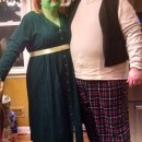 Cool Princess Fiona and Shrek Costumes