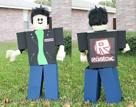 Cool Homemade Roblox Costume Of My Sons Avatar