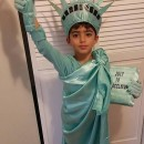 Meaningful Homemade Statue of Liberty Child Costume