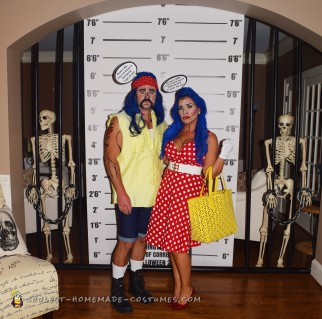 Funny Stepford Wife and Redneck Pop Art Costume
