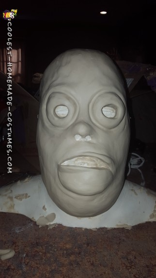 mask sculpt before molding