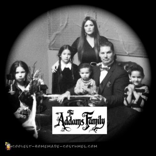 diy addams family costume