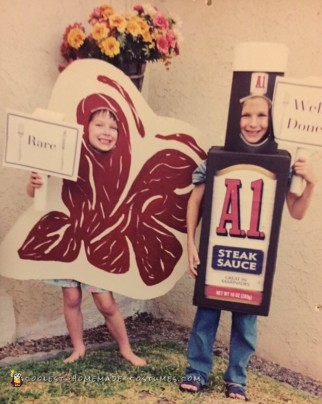 Cool Steak and Steak Sauce Costumes