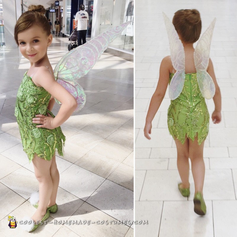 The complete and final Tinkerbell look!