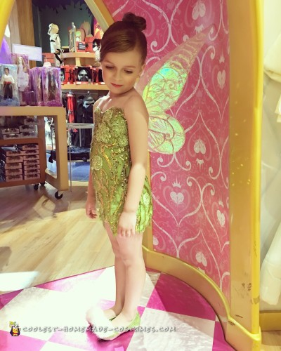 Adorable DIY Tinkerbell Costume