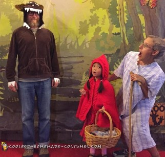red riding hood family costume