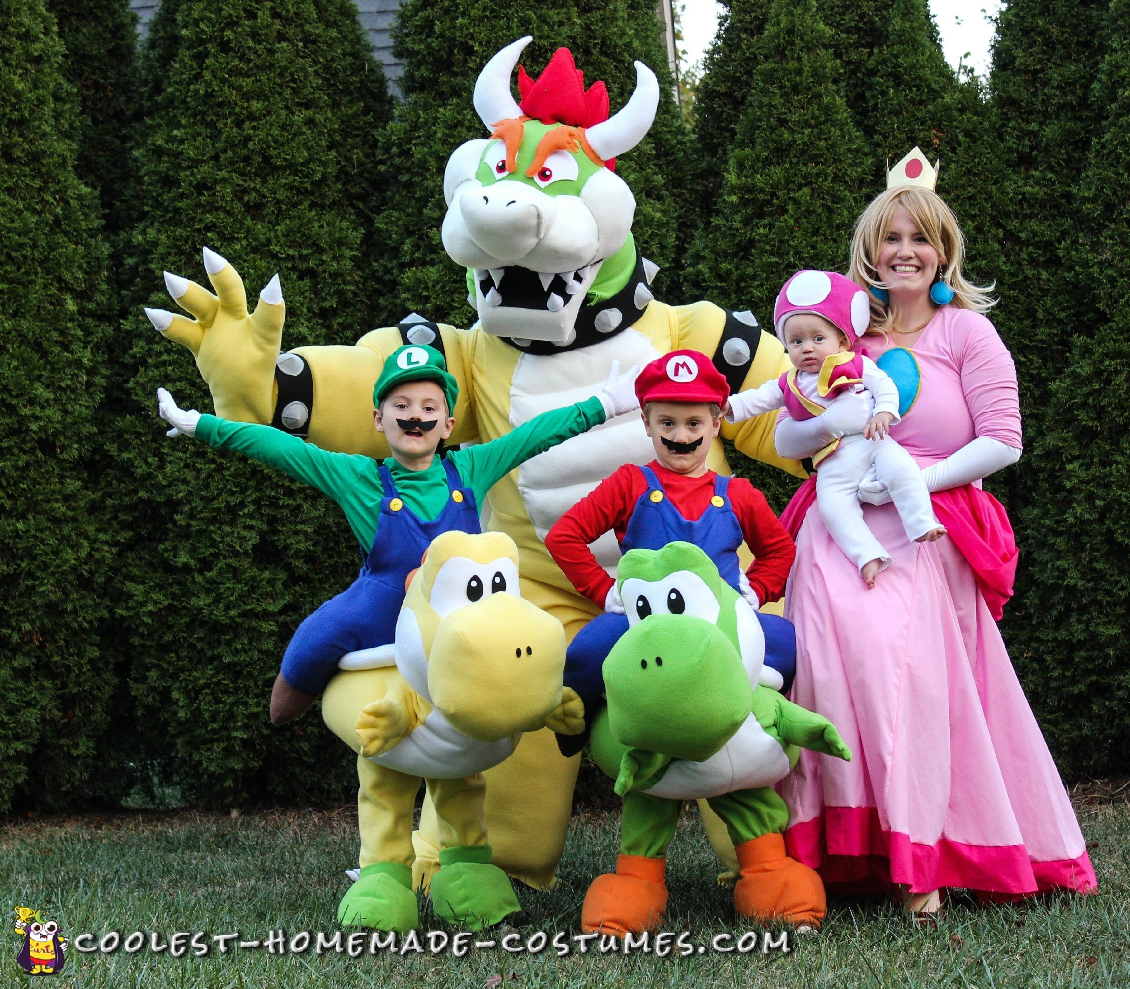 Awesome Homemade Mario Family Costume - Bowser 3aa30b7add22