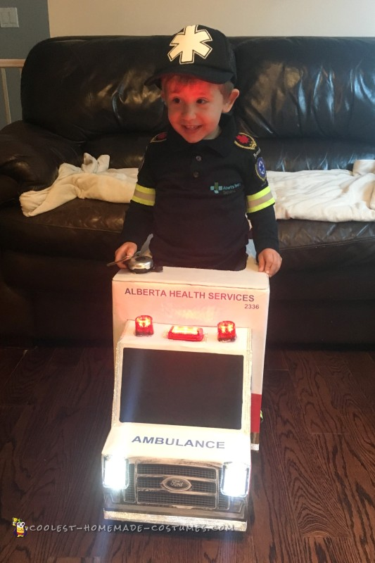Awesome Toddler Paramedic and Ambulance Costume