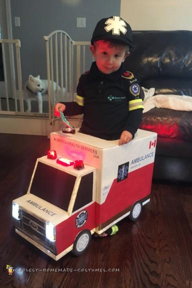 Awesome Toddler Paramedic and Ambulance Costume