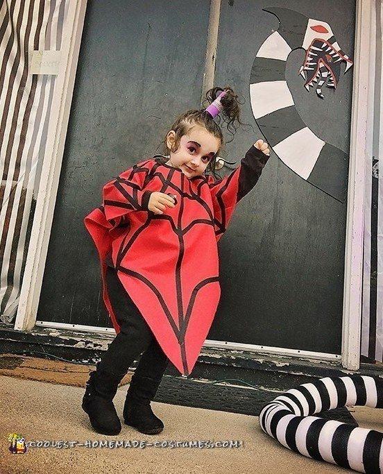 Cool DIY Beetlejuice Cartoon Lydia Costume for Toddler