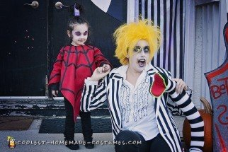 Cool DIY Beetlejuice Cartoon Lydia Costume for Toddler