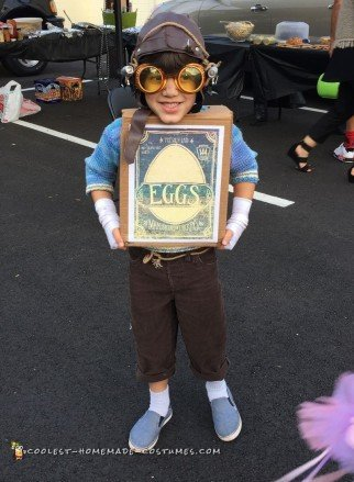 Cool Boxtrolls Eggs Homemade Costume