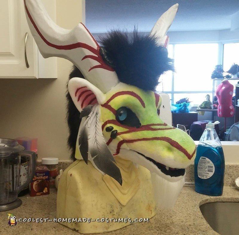 Amazing Homemade Dragon Costume
