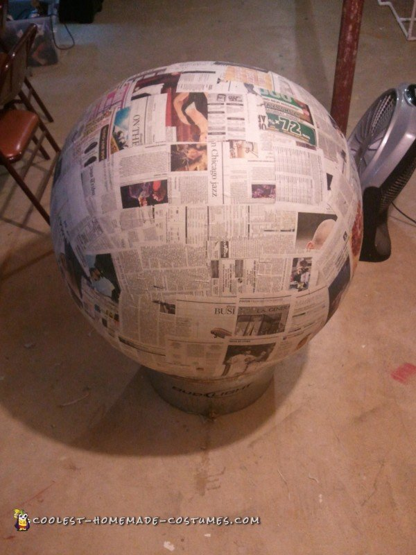 20 Layer Paper Mache Pokeball