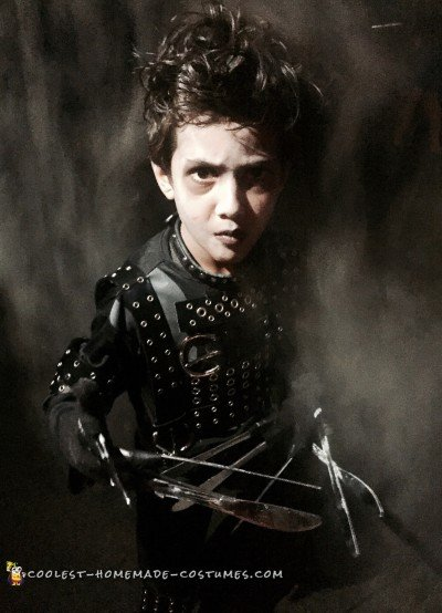 Edward Scissorhands at 7 years old
