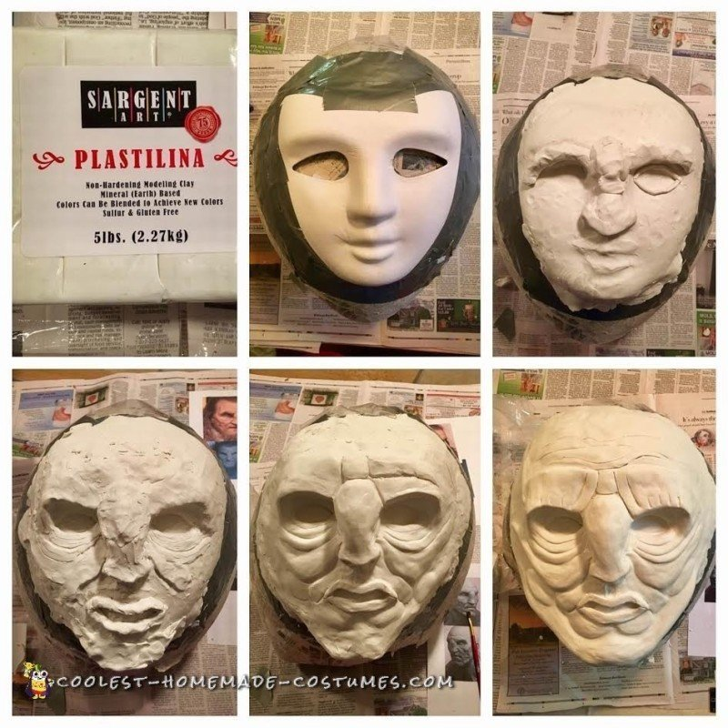 Scultping the face with Clay