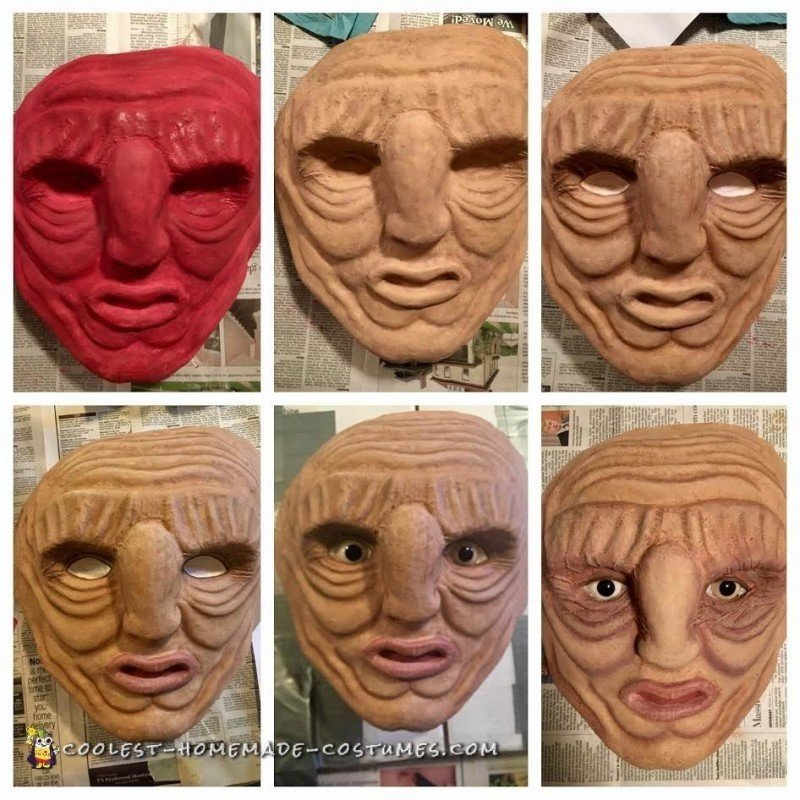 Painting the Paper Mache Mask