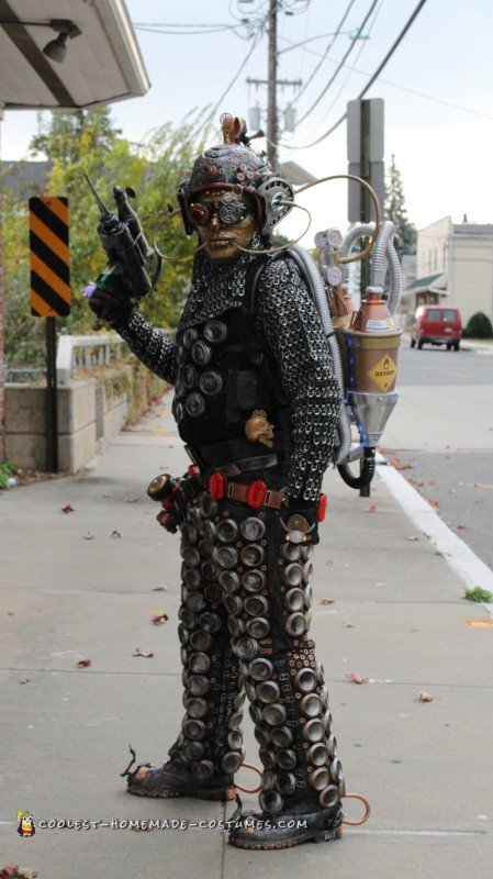 Extraterrestrial Steampunk Cyborg costume