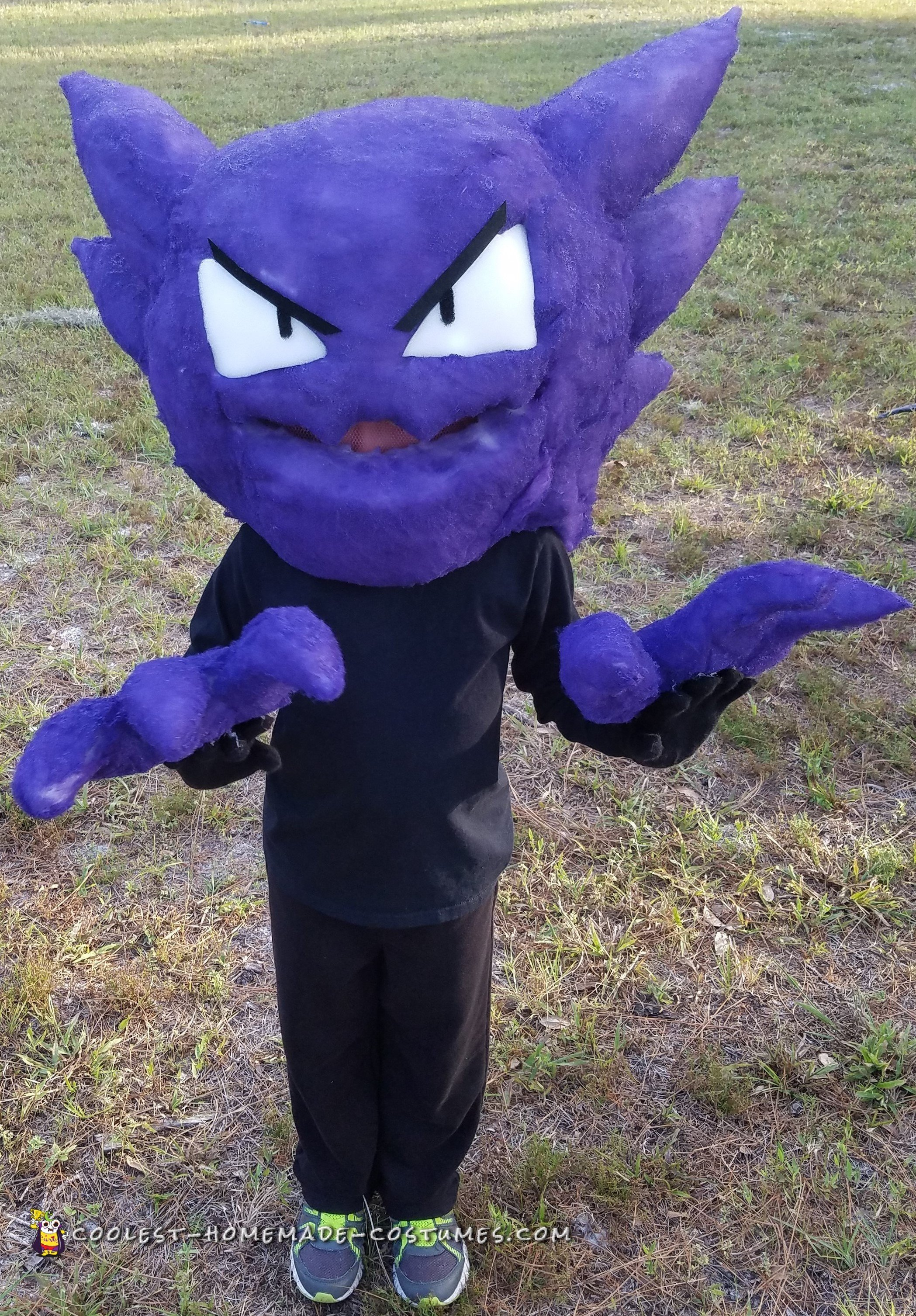Cute Dog Halloween Costumes: Awesome Homemade Haunter Pokemon Costume