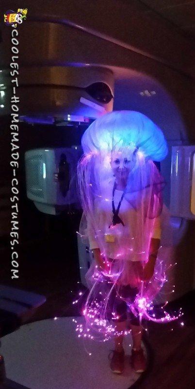 Incredible Homemade Light Up Jellyfish Costume