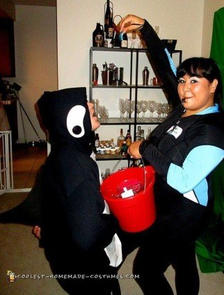 Cool Killer Whale & Trainer Couple Costume