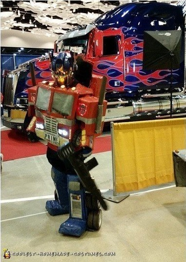 diy optimus prime costume
