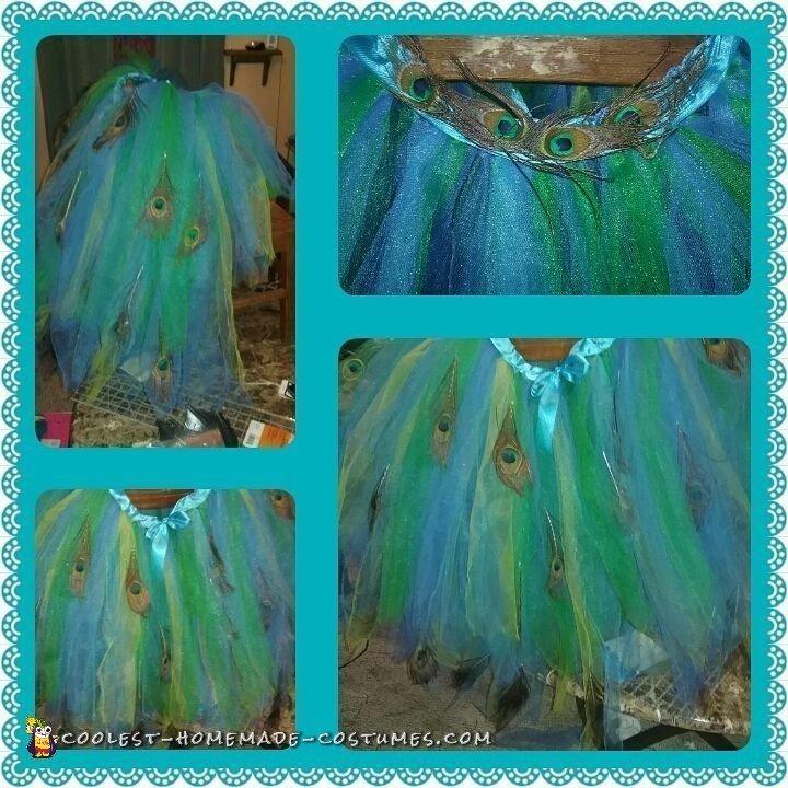 kids peacock halloween costume