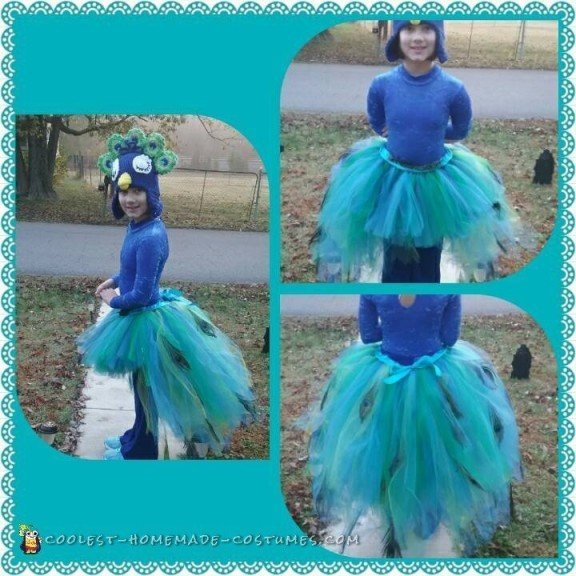kids peacock halloween costume