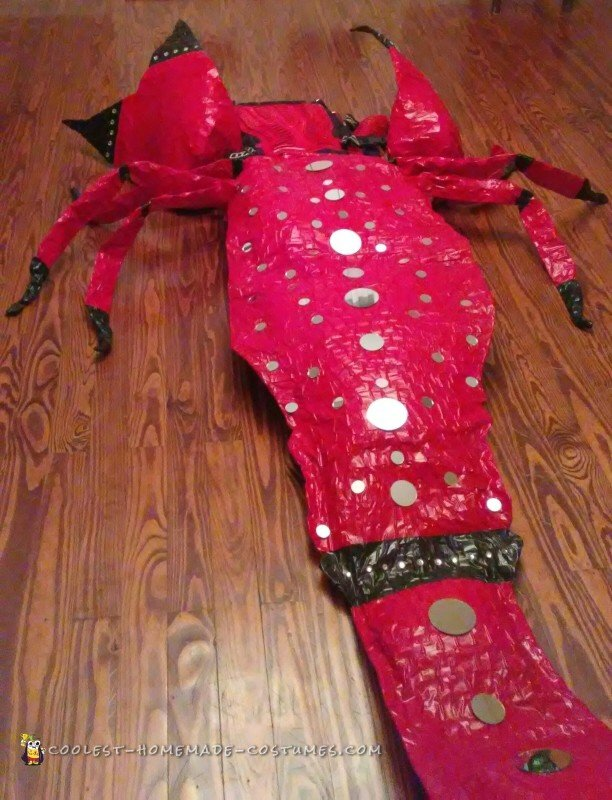 Amazing DIY Rock n Red Scorpion Costume