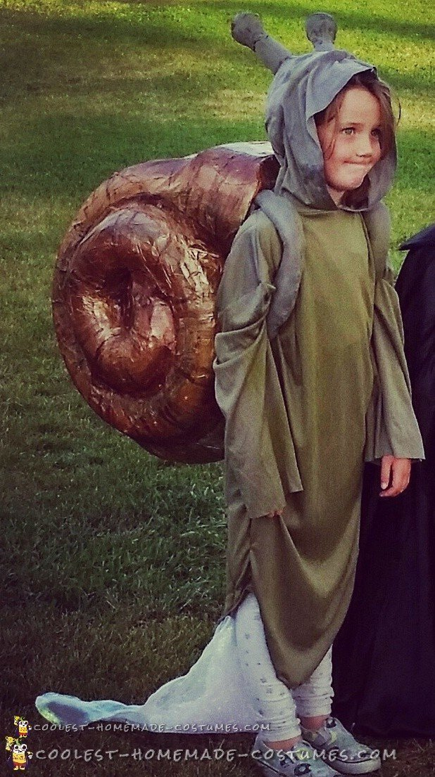 Coolest Diy Snail Halloween Costume With Slime Trail
