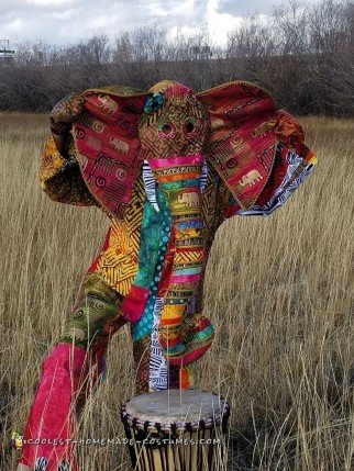 Vibrant African Elephant Costume