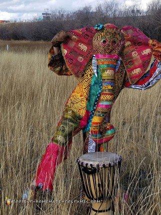 Vibrant African Elephant Costume