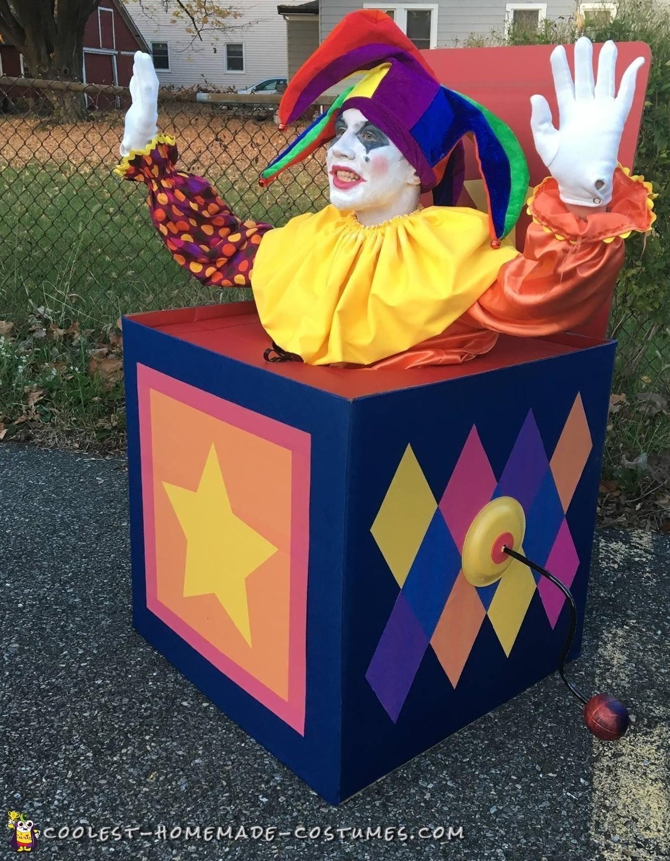 Amazing Homemade Jack in the Box Costume