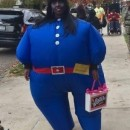 Funny Willy Wonka Blueberry Costume