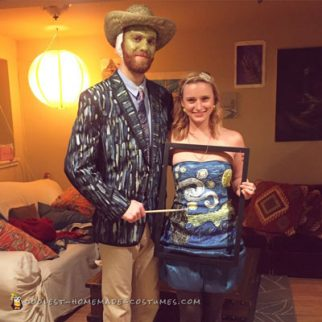 Van Gogh and Painting Couple Costume