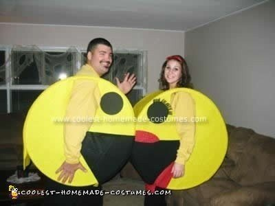 Homemade Mr. and Mrs. PacMan and Ghost Dogs Family Costume