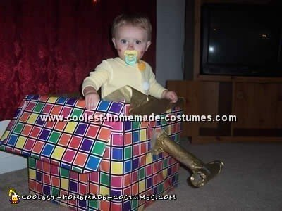 Jack in the Box Children Halloween Costume