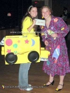 Homemade Magic School Bus Costume