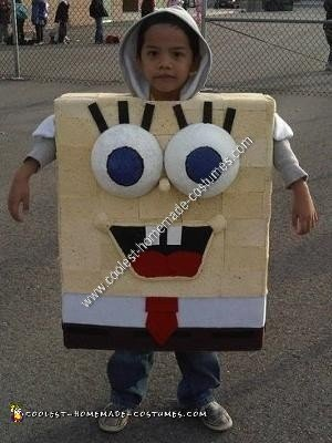 Homemade Spongebob Child Halloween Costume Idea