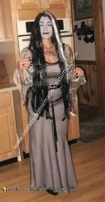 Homemade Lily Munster Costume