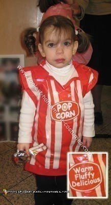 Homemade $1 Popcorn Costume