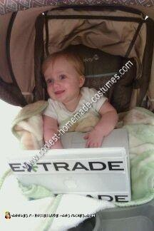 Homemade Etrade Baby Costume