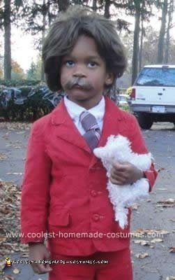 Homemade 3 Year Old as Ron Burgundy Anchorman Costume
