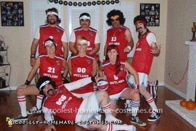 Homemade 70s Basketball Team Costume