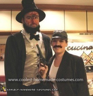 Homemade Abraham Lincoln and John Wilkes Booth Couple Costume
