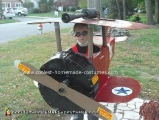 Homemade Bi Plane Costume