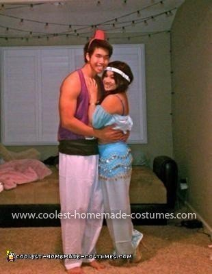 Homemade Aladdin and Jasmine Couple Costume