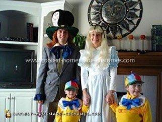 Coolest Alice in Wonderland Family Costume